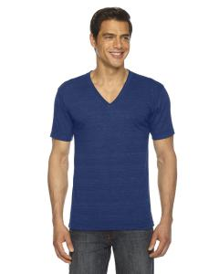 Tri Indigo Unisex Triblend Short-Sleeve V-Neck