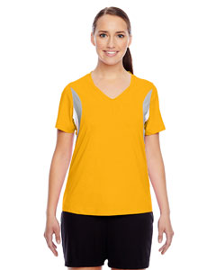 Sp Athletic Gold Ladies' Short-Sleeve V-Neck All Sport Jersey