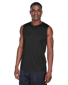 Black Men's Zone Performance Muscle T-Shirt