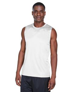 White Men's Zone Performance Muscle T-Shirt