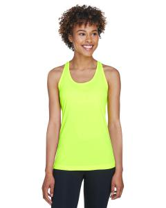 Safety Yellow Ladies' Zone Performance Racerback Tank