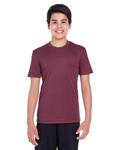 Sport Drk Maroon Youth Zone Performance Tee