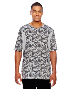 Sp Camo/sp Silvr Men's Short-Sleeve Athletic V-Neck All Sport Sublimated Camo Jersey