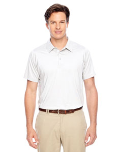 White Men's Charger Performance Polo