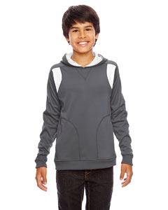 Sp Graphite/wht Youth Elite Performance Hoodie