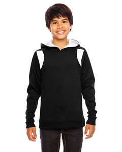Black/white Youth Elite Performance Hoodie