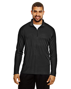 Black Men's Zone Performance Quarter-Zip