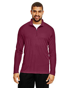 Sport Maroon Men's Zone Performance Quarter-Zip