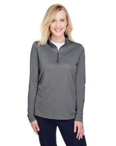 Dk Grey Heather Ladies' Zone Sonic Heather Performance Quarter-Zip