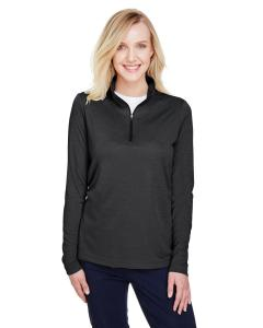 Black Heather Ladies' Zone Sonic Heather Performance Quarter-Zip