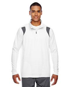 Wht/sp Graphite Men's Elite Performance Quarter-Zip