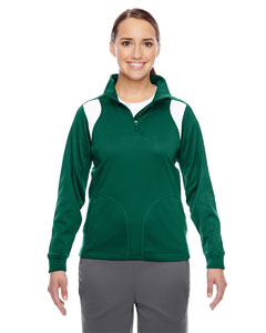 Sp Forest/wht Ladies' Elite Performance Quarter-Zip