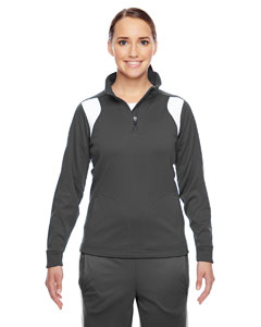 Sp Graphite/ Wht Ladies' Elite Performance Quarter-Zip