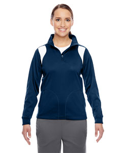 Sp Dk Navy/wht Ladies' Elite Performance Quarter-Zip