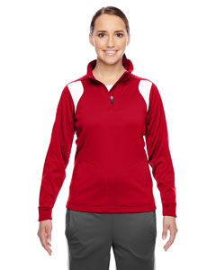 Sp Red/wht Ladies' Elite Performance Quarter-Zip