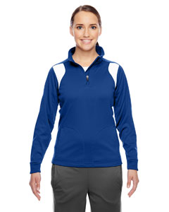 Sp Royal/wht Ladies' Elite Performance Quarter-Zip