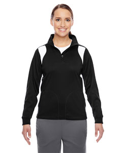 Black/white Ladies' Elite Performance Quarter-Zip