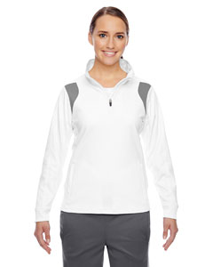 Wht/sp Graphite Ladies' Elite Performance Quarter-Zip