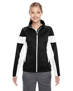 Black/white Ladies' Elite Performance Full-Zip