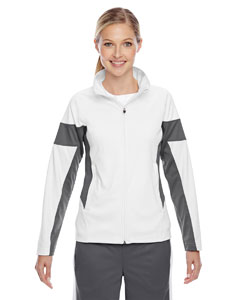 Wht/sp Graphite Ladies' Elite Performance Full-Zip