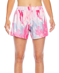 Sport Pink Swirl Ladies' All Sport Sublimated Pink Swirl Short