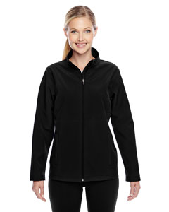 Black Ladies' Leader Soft Shell Jacket