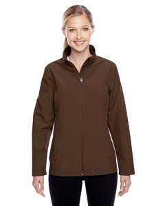 Sport Dark Brown Ladies' Leader Soft Shell Jacket
