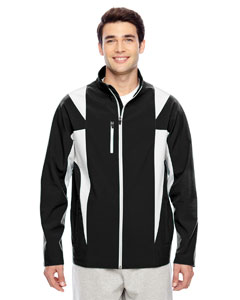 Black/sp Silver Men's Icon Colorblock Soft Shell Jacket