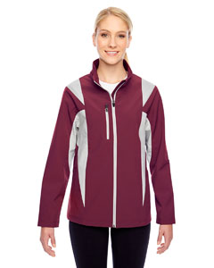 Sp Maroon/sp Sil Ladies' Icon Colorblock Soft Shell Jacket