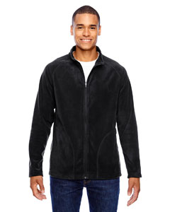Black Men's Campus Microfleece Jacket