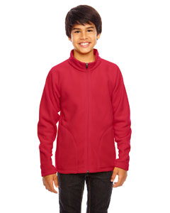 Sport Red Youth Campus Microfleece Jacket