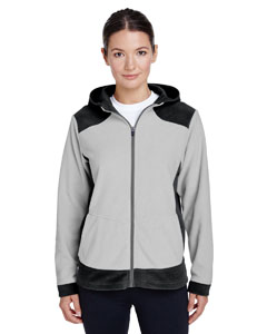 Black/ Sp Silver Ladies' Rally Colorblock Microfleece Jacket