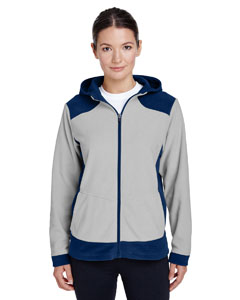 Sp D Nvy/ Sp Sil Ladies' Rally Colorblock Microfleece Jacket
