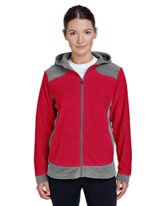 Sp Graph/ Sp Rd Ladies' Rally Colorblock Microfleece Jacket