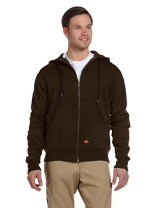 Dark Brown Thermal-Lined Fleece Jacket