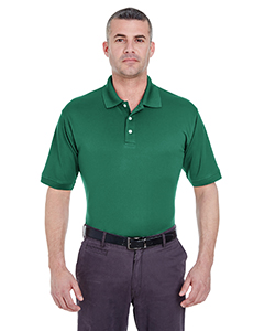Forest Green Men's Platinum Performance Pique Polo with TempControl Technology