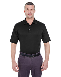 Black Men's Platinum Performance Pique Polo with TempControl Technology
