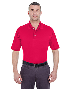 Red Men's Platinum Performance Pique Polo with TempControl Technology