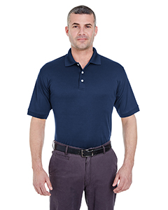Navy Men's Platinum Performance Pique Polo with TempControl Technology