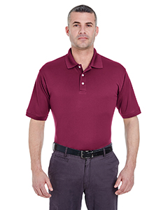 Maroon Men's Platinum Performance Pique Polo with TempControl Technology