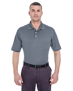 Charcoal Men's Platinum Performance Pique Polo with TempControl Technology