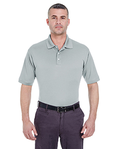 Grey Men's Platinum Performance Pique Polo with TempControl Technology
