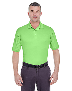 Light Green Men's Platinum Performance Pique Polo with TempControl Technology