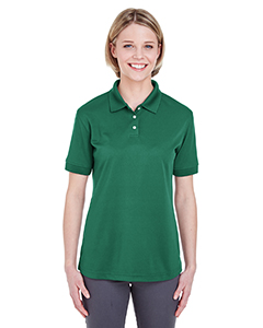 Forest Green Ladies' Platinum Performance Pique Polo with TempControl Technology