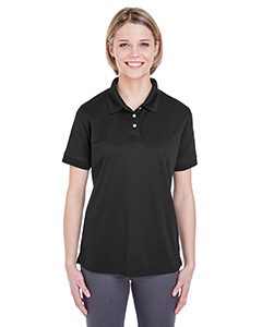 Black Ladies' Platinum Performance Pique Polo with TempControl Technology