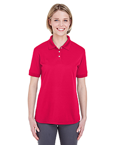 Red Ladies' Platinum Performance Pique Polo with TempControl Technology