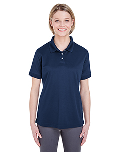 Navy Ladies' Platinum Performance Pique Polo with TempControl Technology