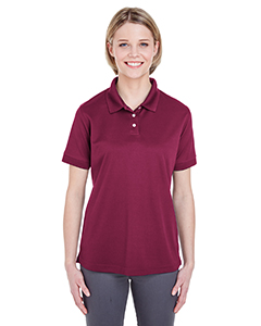 Maroon Ladies' Platinum Performance Pique Polo with TempControl Technology
