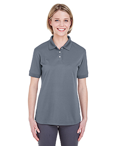 Charcoal Ladies' Platinum Performance Pique Polo with TempControl Technology