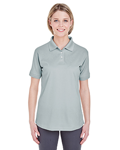 Grey Ladies' Platinum Performance Pique Polo with TempControl Technology